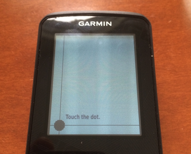 Garmin Edge 510 Screen Calibration